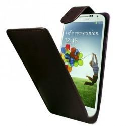 Etui simple noir à rabat pour Samsung Galaxy S4
