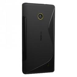Coque couleur noire pour le Nokia Lumia 520