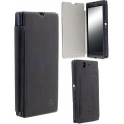 Etui portefeuille ultra fin cuir noir Krusell pour Sony Xperia Z