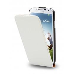 Etui à rabat blanc Moxie pour Samsung Galaxy S4