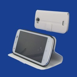 Housse support blanche pour Wiko Cink Peax