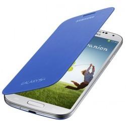 Etui intégrable flip cover origine bleu pour Samsung Galaxy S4