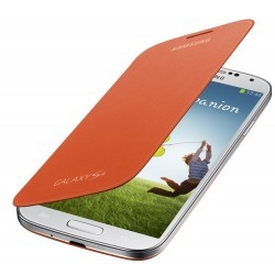 Etui Flip Cover orange d'origine Samsung Galaxy S4