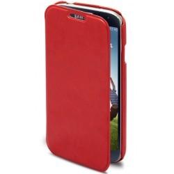 Etui portefeuille luxe rouge Tuxedo pour Samsung Galaxy S4