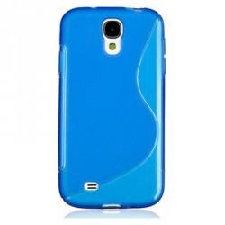 Coque silicone TPU bleue pour Samsung Galaxy S4