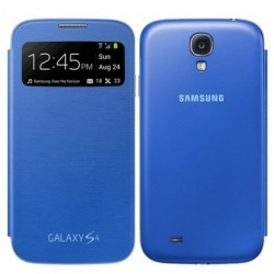 Etui Folio Bleu Origine S-View Cover pour Samsung Galaxy S4