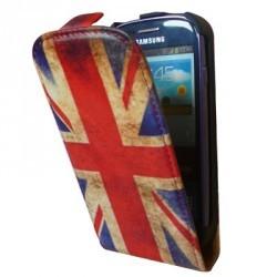 Housse à rabat drapeau Angleterre vintage pour Samsung Galaxy S3 mini