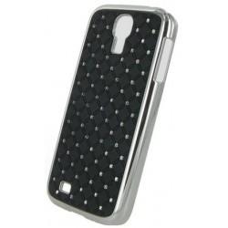 Coque noire avec diamants strass pour Samsung Galaxy S4