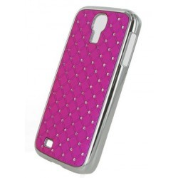 Coque rose fuchsia avec strass diamants pour Samsung Galaxy S4