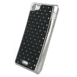 Coque noire strass incrustée diamants pour Sony Xperia Z