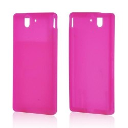Coque rose silicone pour Sony Xperia Z