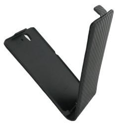 Etui style carbone noir Sony Xperia Z