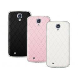 Coque Arrière Surpiqures Krussell pour Samsung Galaxy S4 : rose, blanc ou noir.