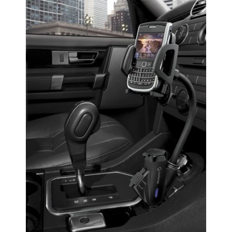 Support universel voiture avec chargeur allume cigare intégré et deux entrées USB