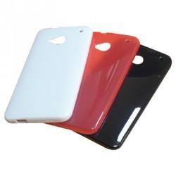 Assortiment de 3 coques silicone KONKIS HTC One : Noire, Blanche et Rose