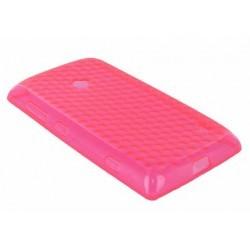 Coque silicone rose pour Nokia Lumia 520