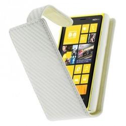 Housse carbone blanche pour Nokia Lumia 520