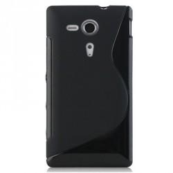 Coque noire silicone pour Sony Xperia SP