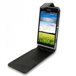 Housse à rabat noire pour le Sony Xperia SP