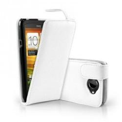 Etui à rabat Simili cuir Blanc HTC One SV