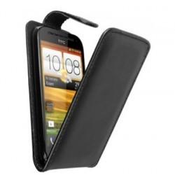 Housse noire simili cuir HTC One SV