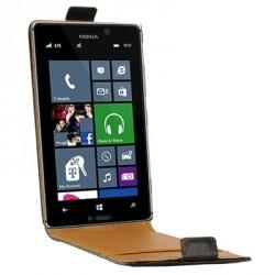 Housse à rabat noire pour le Nokia Lumia 925