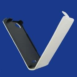 Etui blanc style carbone à rabat pour le Sony Xperia L