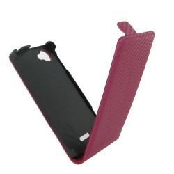 Housse rose carbone pour le Sony Xperia L