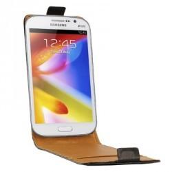 Housse noire cuir pour Samsung Galaxy Grand