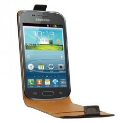 Etui cuir noir pour Samsung Galaxy Trend