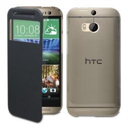 Etui folio s-view simili noir STAX pour HTC M8