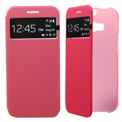 Etui folio s-view simili rose STAX pour HTC M8