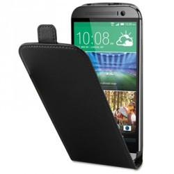 Etui Portefeuille Rabat Simili Noir pour HTC M8