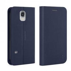 Etui Folio Bleu avec Stand et Porte Cartes Belkin Samsung Galaxy S5