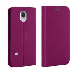 Etui Folio Fuschia avec Stand et Porte Cartes Belkin Samsung GalaxyS5