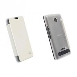 Etui Folio Blanc Licence Krusell pour Sony Xpéria E1
