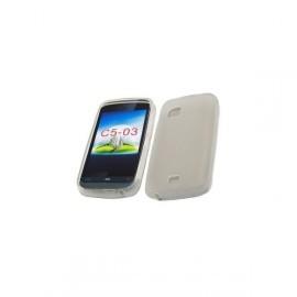 Coque en silicone blanc pour Nokia C5-03