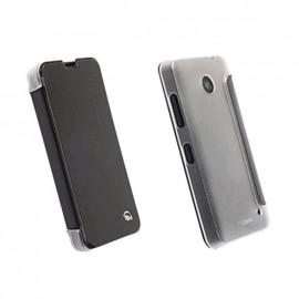 Etui Folio Noir Arrière Transparent Krusell pour Nokia Lumia 630/ 635