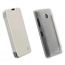 Etui Folio Blanc Arrière Transparent Krusell pour Nokia Lumia 630/635