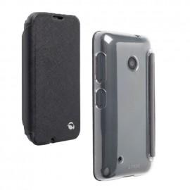 Etui Folio Simili Noir Krusell pour Nokia Lumia 530