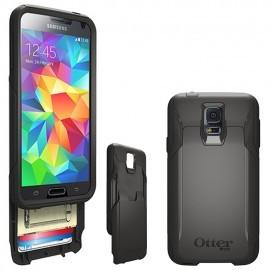 Protection Commuter Noire + Film Ecran Otterbox pour Samsung S5