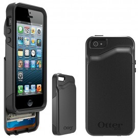 Protection Commuter Wallet Noire + Film Otterbox pour IPhone 5C