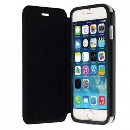 Etui folio aspect cuir noir Krussel pour iPhone 6