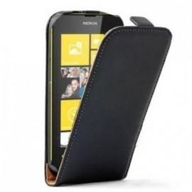 Etui Portefeuille Rabat Simili Noir pour Nokia Lumia 630