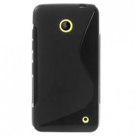 Protection Minigel Noire Bi-Matières pour Nokia Lumia 630/ 635