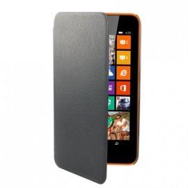 Etui Folio Ultra Fin Simili Noir pour Nokia Lumia 630/ 635