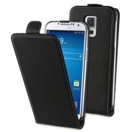 """Etui Portefeuille Rabat Simili Noir pour Samsung """"S5 Mini"""""""