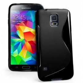 """Protection Minigel Noire Bi-Matières pour Samsung """"S5 Mini"""""""