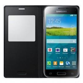 "Etui Folio Noir Origine S-View Cover pour Samsung CG800 ""S5 Mini"""