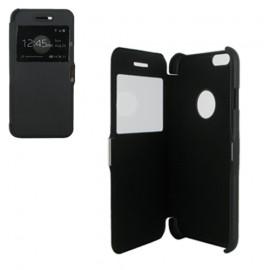 Etui type portefeuille avec fenêtre pour iPhone 6 Noir